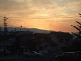 松本駅から見た夕焼け