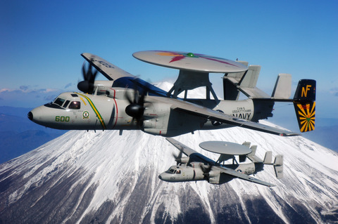 E-2C_Hawkeye_and_Mount_Fuji