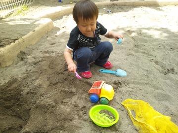 砂を乗せて運ぶよ