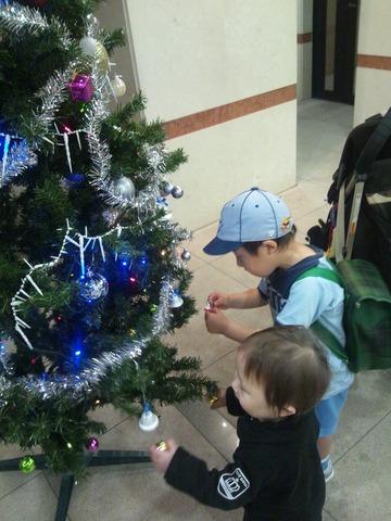 クリスマスツリー点検