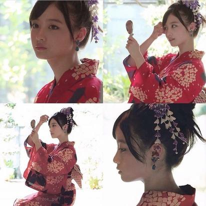【悲報】橋本環奈さん、夏らしく浴衣を着るのも似合わないwwwwww