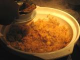 栗と鶏の炊き込みご飯(取り分け)
