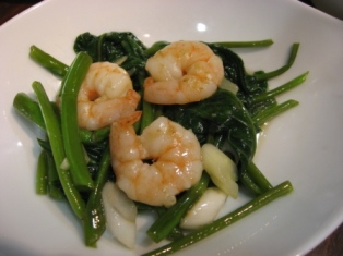 空芯菜と蝦の炒め