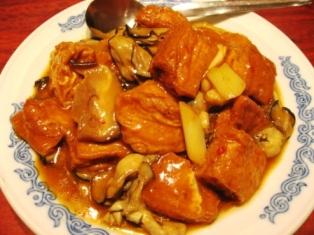 生虫+毫豆腐(カキと豆腐の家庭風煮込み)