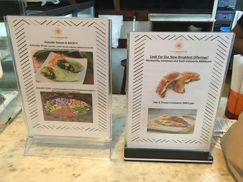 Yangon Bakehouse_朝食・昼食メニュー1