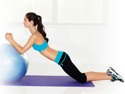 rollout on stability ball
