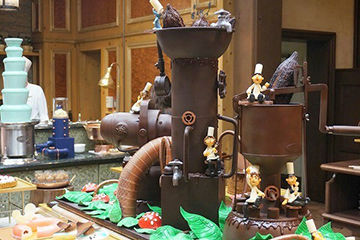リッツカールトンのホテルビュッフェ、チョコファクトリー