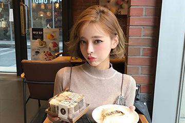 ボブスタイルのアレンジヘアが可愛い韓国の人気モデルテリちゃん