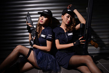 SWATでセクシーカッコイイハロウィンコス
