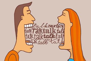 たくさん話す