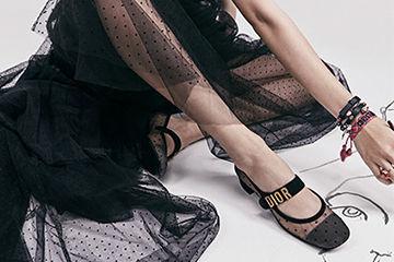 Diorのシースルーシューズが春らしい