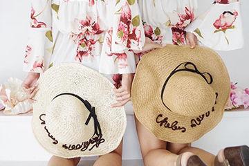 トレンドの麦わら帽子