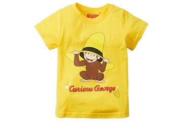 黄色いサルのTシャツ