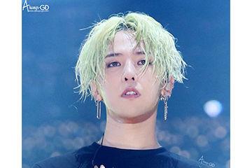 BIGBANGのジヨンのエメラルドグリーンのヘアカラー