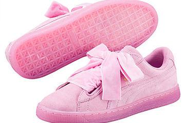 PUMAのピンクスニーカーが可愛い