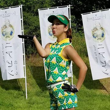 名古屋の人気キャバ嬢、エンリケちゃん愛用ゴルフウェア