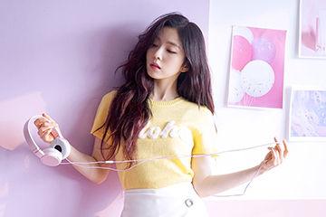 前髪が長い美少女、韓国アイドルのレドベルのアイリーン