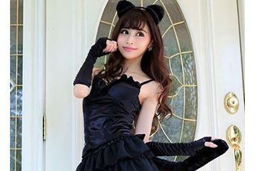 エロ可愛い黒猫ハロウィン人気コスプレ