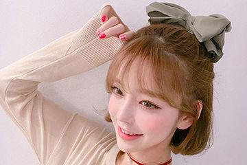 リボンアレンジも可愛い韓国人気モデルのテリちゃんのボブヘア