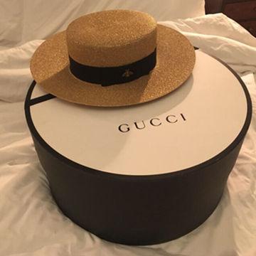 GUCCIのカンカン帽がお洒落で可愛い