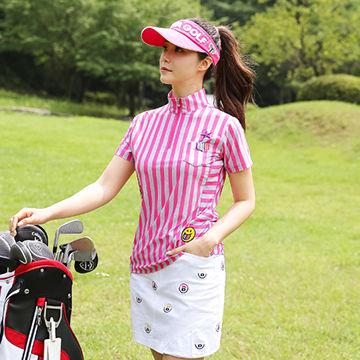 ピンクが可愛いゴルフウェア