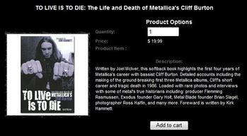 Metallica.comでクリフ回顧録