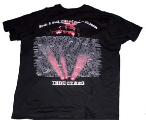 ロックの殿堂入り記念Tシャツ