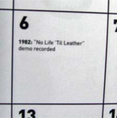 伝説デモ「No Life 'Til Leather」が録音された日