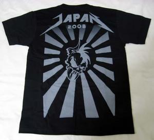 日本限定メタリカTシャツ