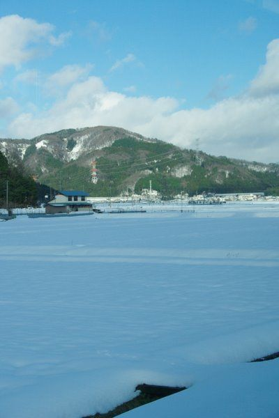 奥琵琶湖の雪景色