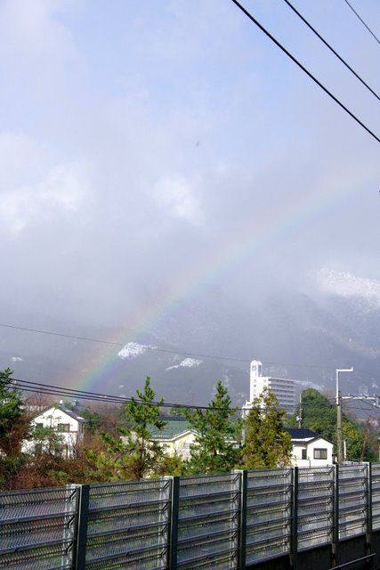 近江舞子から見えた虹