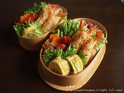 7月16日 海老フライ弁当とハムマヨチーズパン他