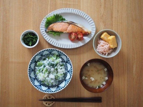 焼鮭の朝ごはん