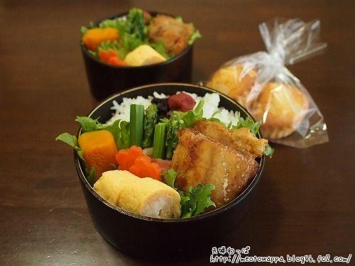 4月14日 鰆の竜田揚げ弁当 と マドレーヌ