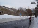 国道から見る箕輪山