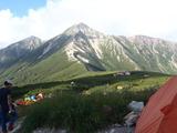 081322三俣蓮華キャンプ場から鷲羽岳