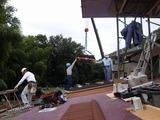 八木のコロナ屋根葺き工事開始