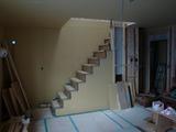 工事中の階段