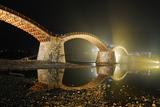 錦帯橋ライトアップ1