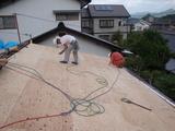 屋根合板下地の完成
