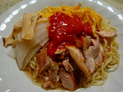 生トマトの冷麺