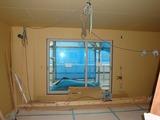 窓の工事中