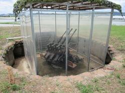 53鶉野機銃座復元機銃
