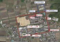 篠山連隊・篠山陸軍病院配置図