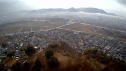 3猪崎城から福知山城を望む