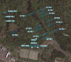 関分工場地下壕配置図
