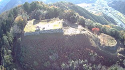 有子山城空撮西から