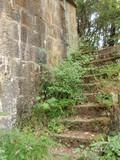 建部山砲台弾薬庫側階段1