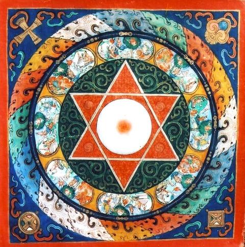 70参考写真 六芒星の曼荼羅