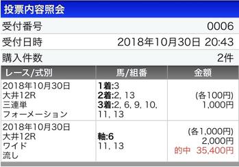大井初日からワイド2点→35.4倍ゲットww